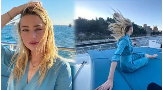 İstanbul'a hayran kalan Amber Heard, Boğaz turunda!