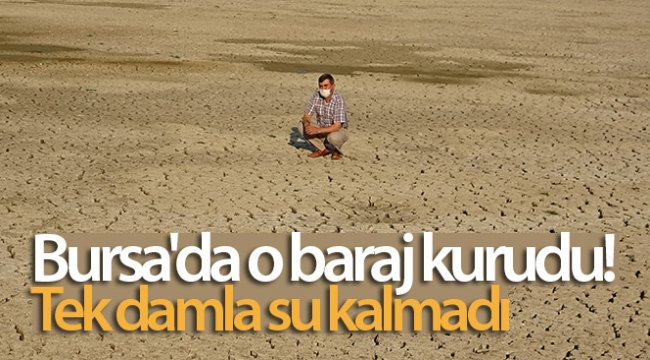 Bursa'da o baraj kurudu! Tek damla su kalmadı